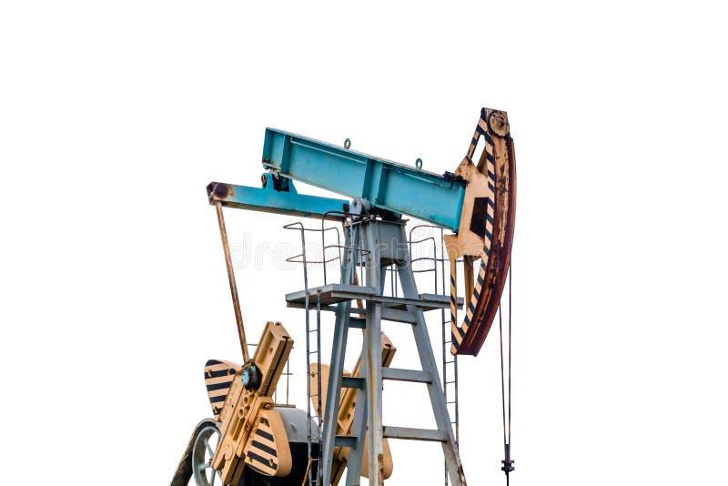 在白色背景的油泵 隔离 免版税库存图片