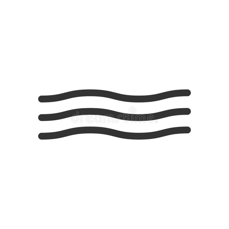 在白色背景的波浪象 下载例证图象准备好的向量 平的设计 向量例证
