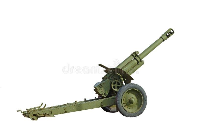 在白色背景的火炮枪 免版税库存照片