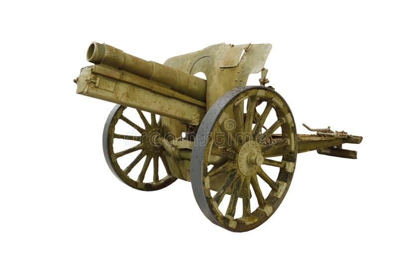 在白色背景的火炮枪 免版税库存图片