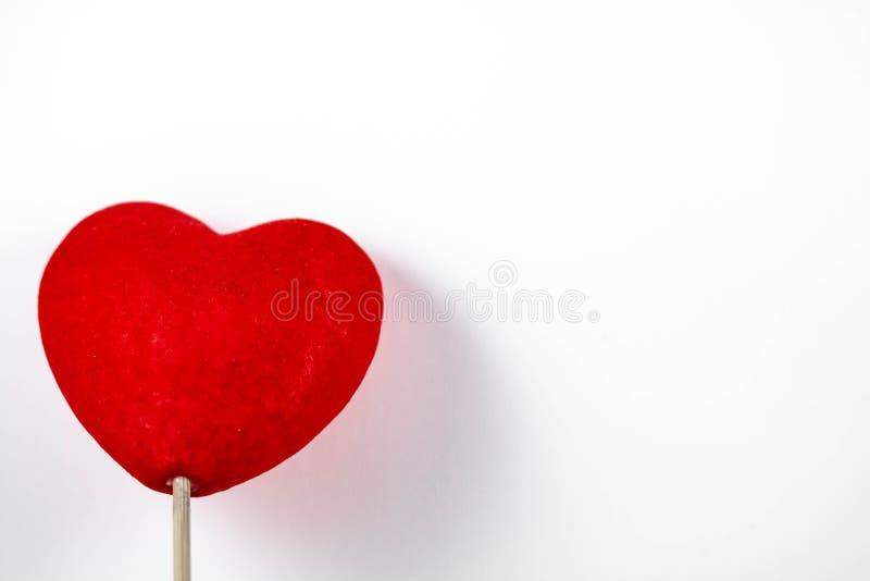 在白色背景的爱心脏 免版税库存照片