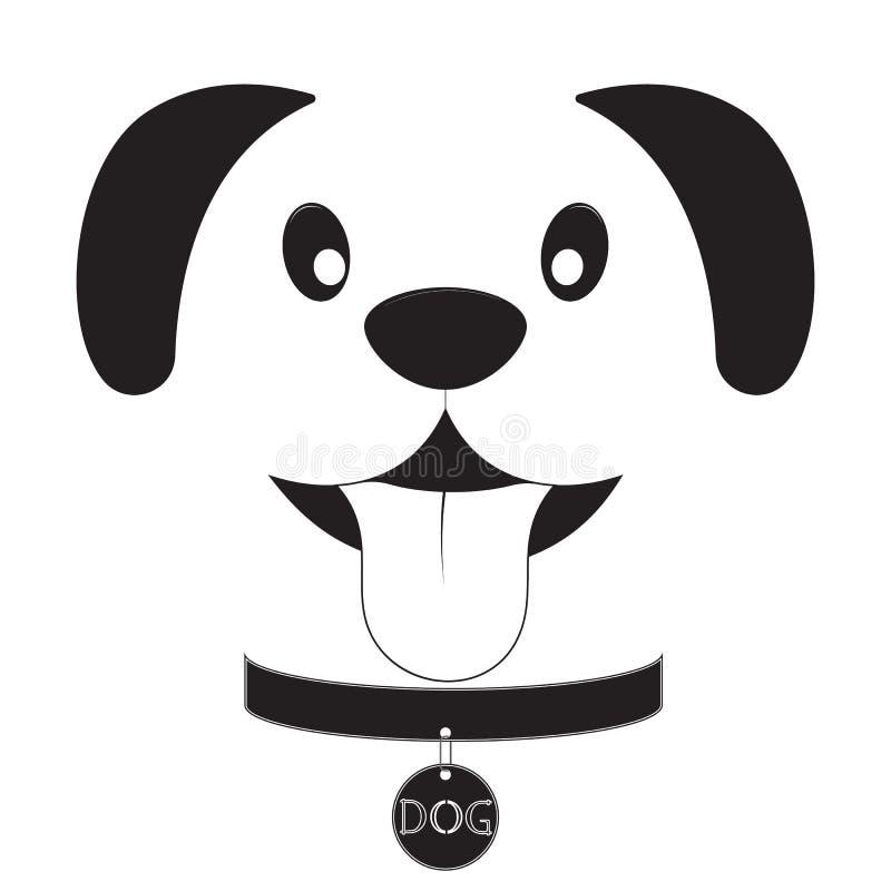 在白色背景的狗头 向量例证