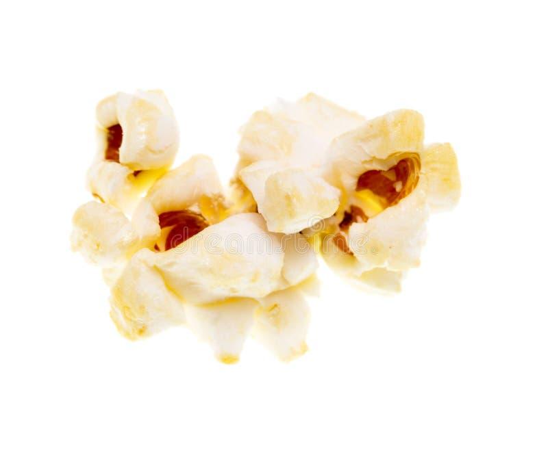 在白色背景的玉米花 免版税图库摄影