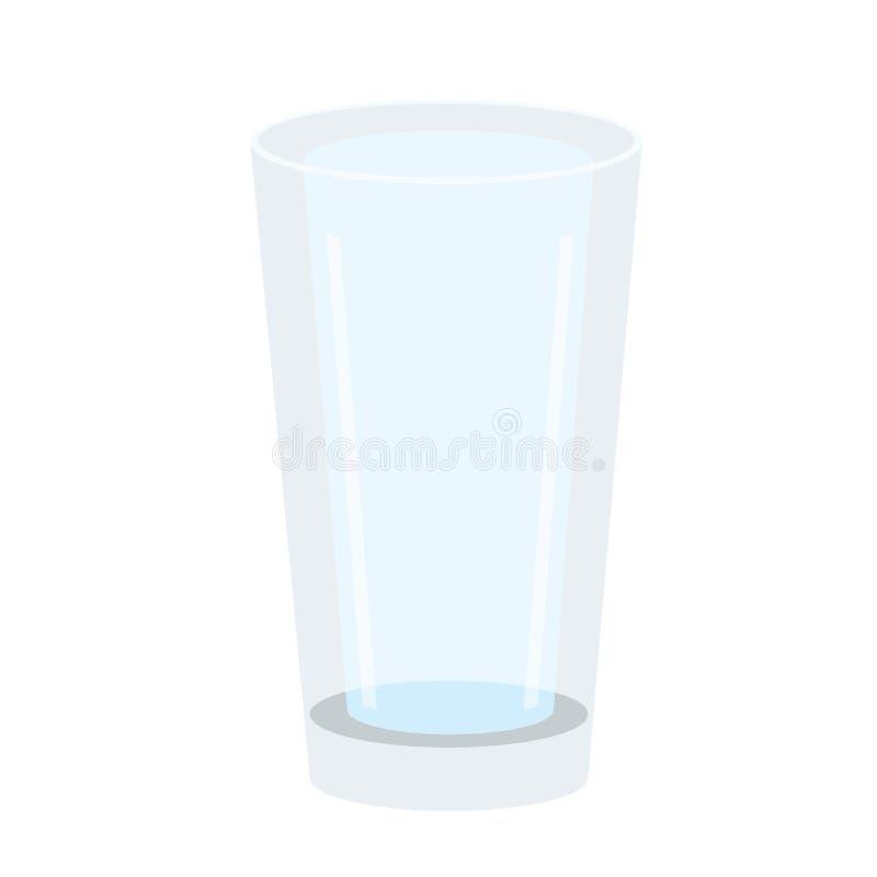 在白色背景的玻璃饮用水 皇族释放例证