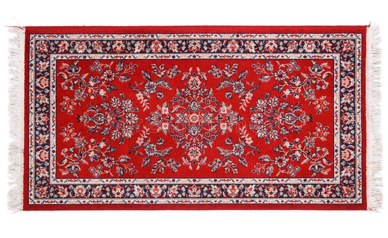 在白色背景的珍贵的波斯地毯 库存图片