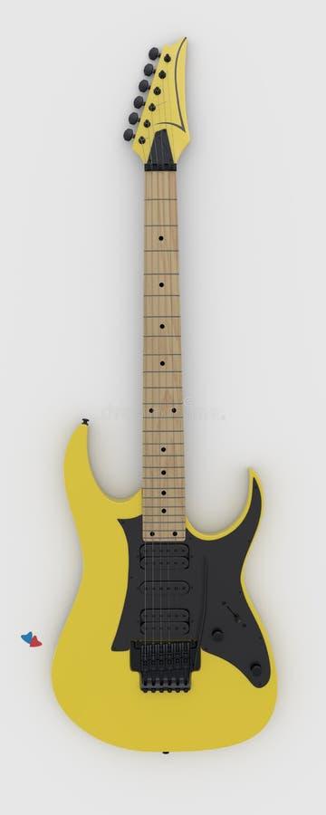 在白色背景的电吉他。 图库摄影