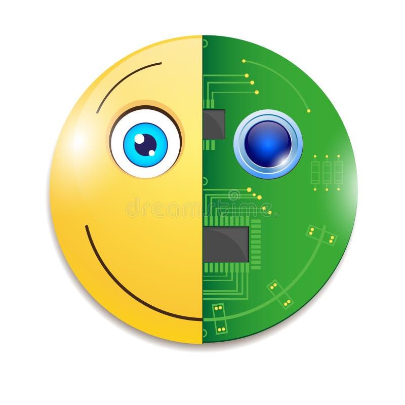 电子面带笑容 向量例证