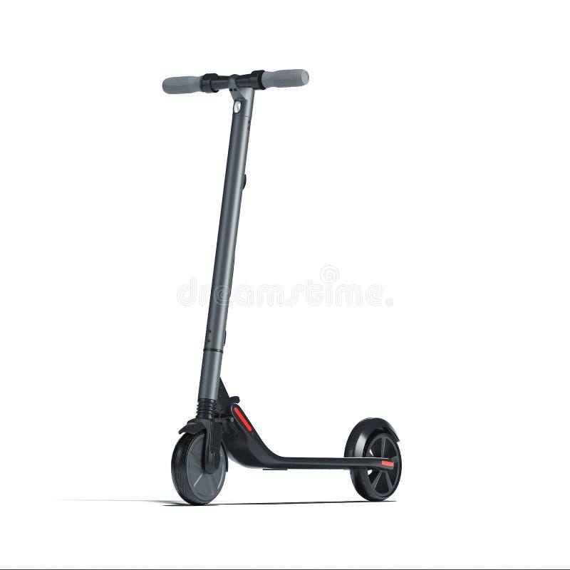 在白色背景的电滑行车 eco供选择的运输 3d?? 向量例证