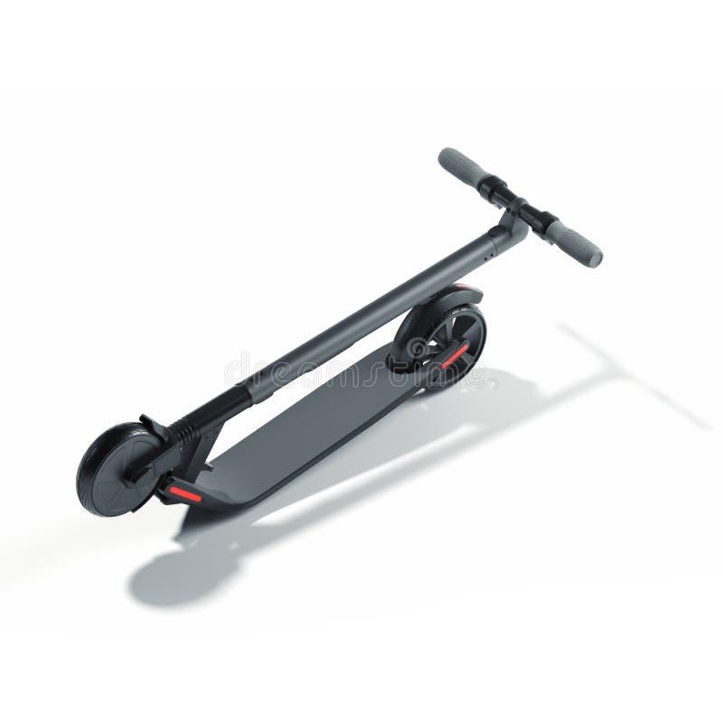 在白色背景的电滑行车 eco供选择的运输 3d?? 库存例证
