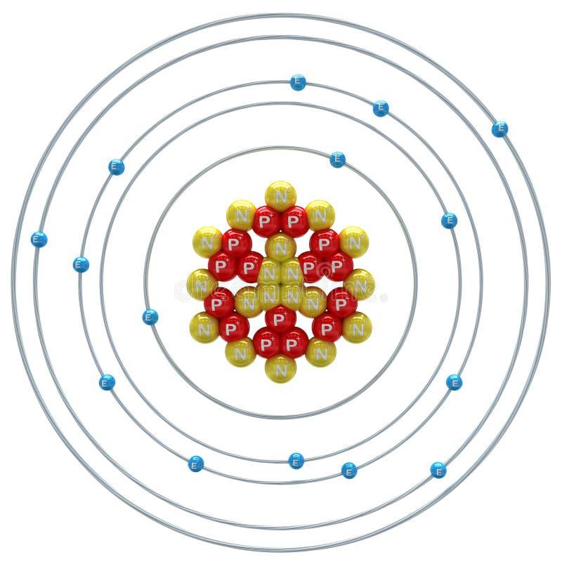 在白色背景的磷(同位素)原子 向量例证