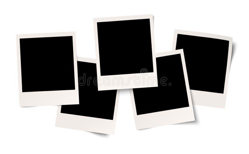 在白色背景的空白的人造偏光板 皇族释放例证