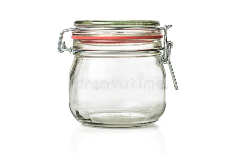 空的装于罐中的瓶子 库存图片