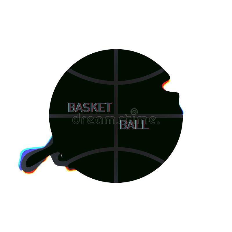 在白色背景的篮子球现代设计 向量例证