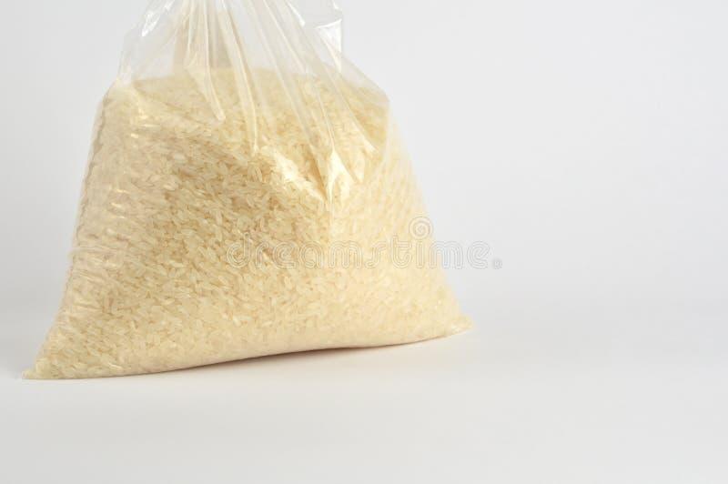 在白色背景的米组装 免版税库存图片