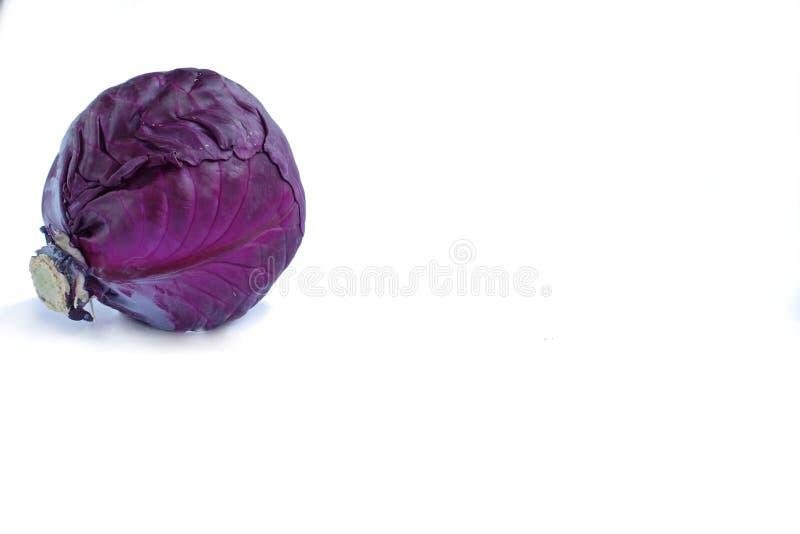 在白色背景的紫色菜 图库摄影