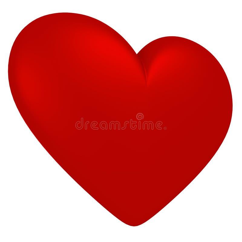 在白色背景的红色心脏标志 免版税库存照片