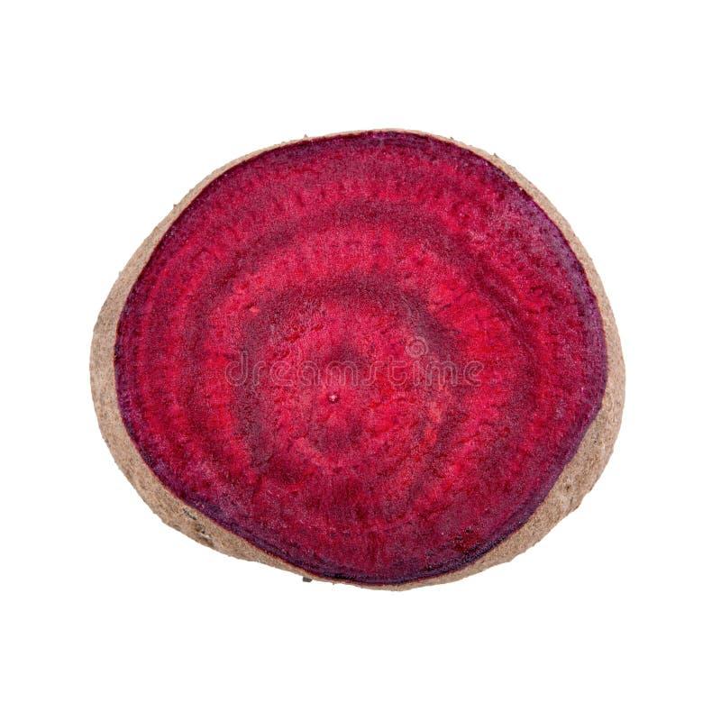 在白色背景的红色甜菜 库存图片