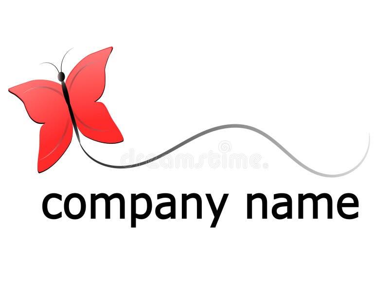 蝴蝶商标 免版税库存照片