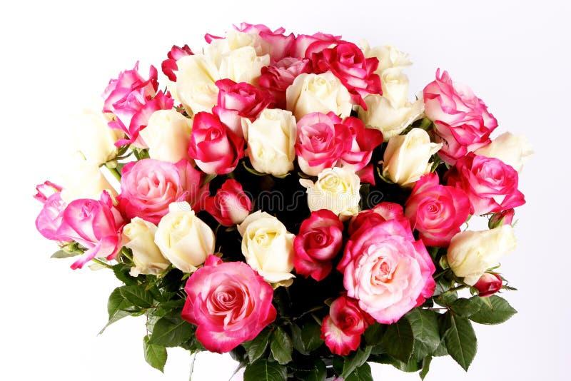 在白色背景的美丽的新娘花束,水彩样式 库存例证