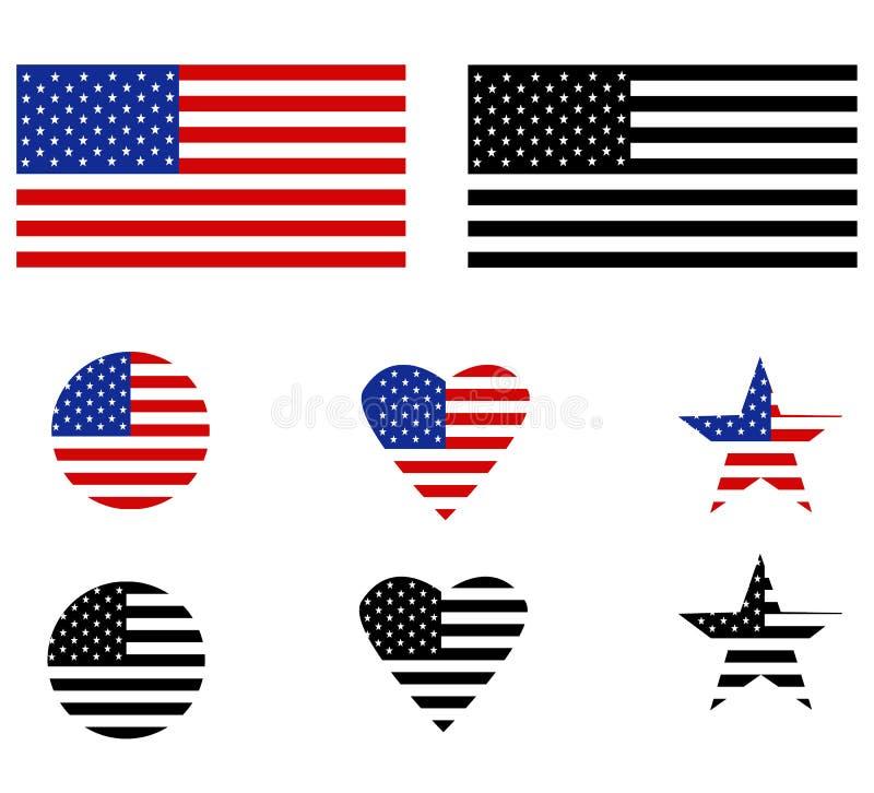 在白色背景的美国旗子 r 美国标志的旗子您的网站设计的,商标,应用程序,UI ?? 向量例证