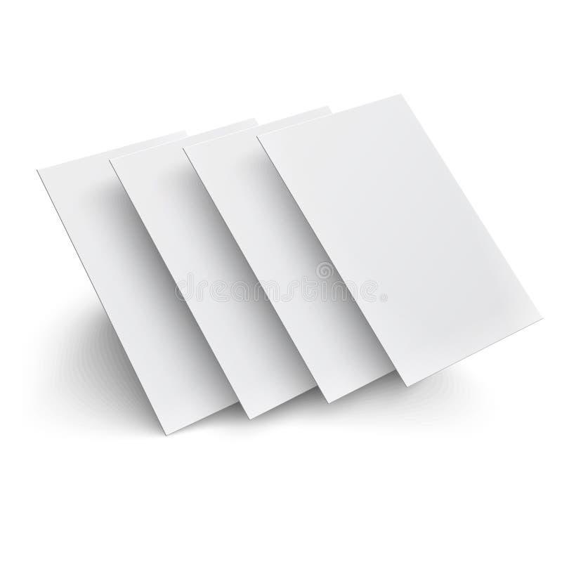在白色背景的翱翔空白页。 向量例证