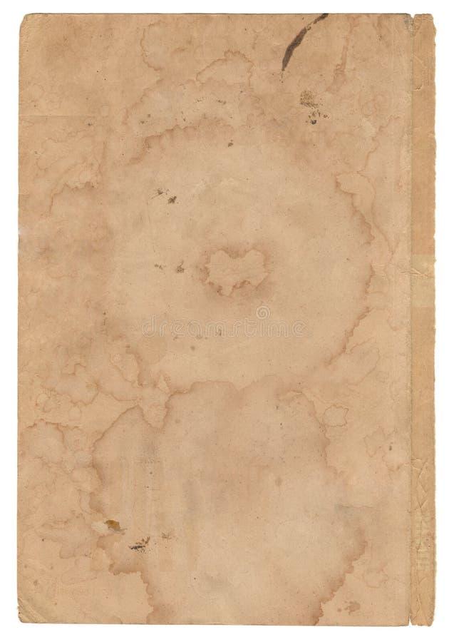 在白色背景的老纸 库存图片