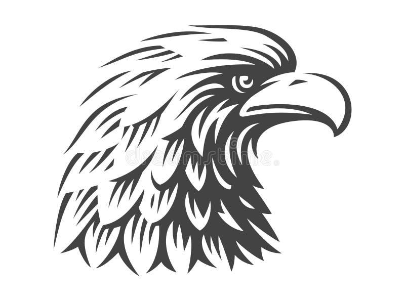 在白色背景的老鹰坚硬的传染媒介例证 库存例证