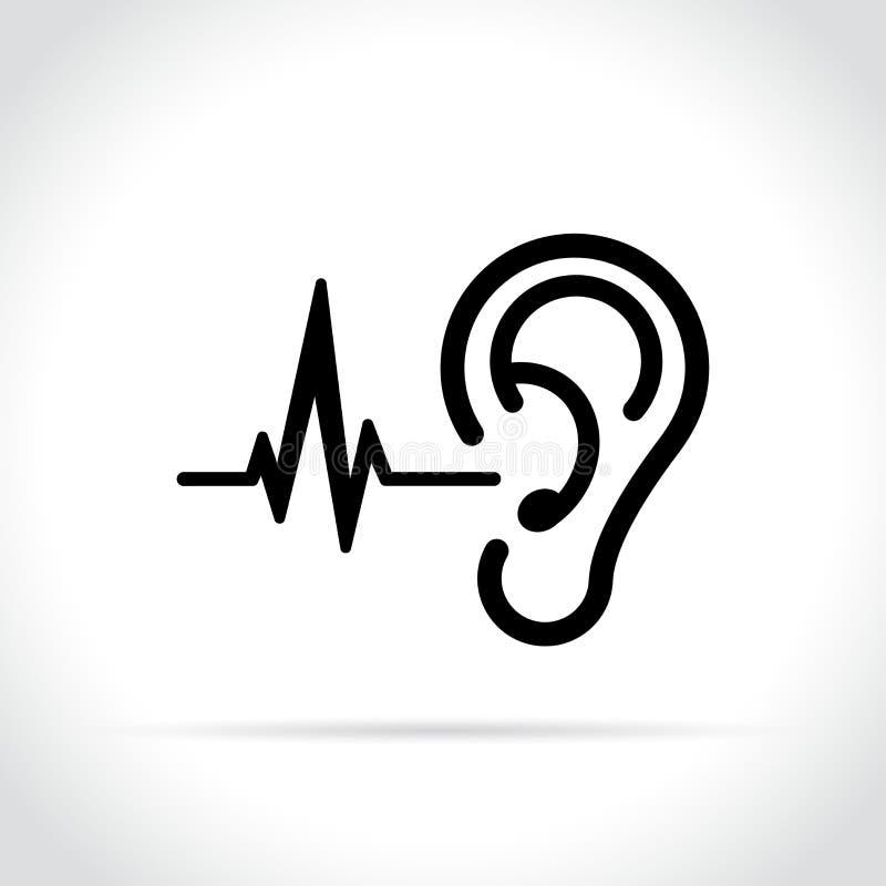 在白色背景的耳朵象 向量例证