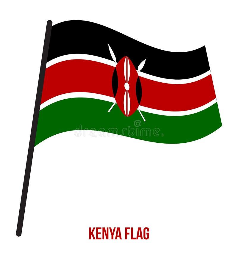 在白色背景的肯尼亚沙文主义情绪的传染媒介例证 肯尼亚国旗 皇族释放例证
