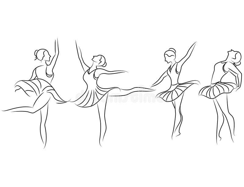 在白色背景的芭蕾 免版税图库摄影