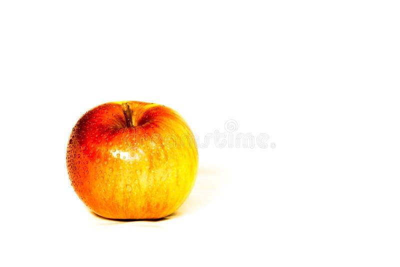 在白色背景的苹果 图库摄影