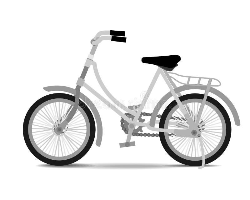 在白色背景的葡萄酒自行车 皇族释放例证