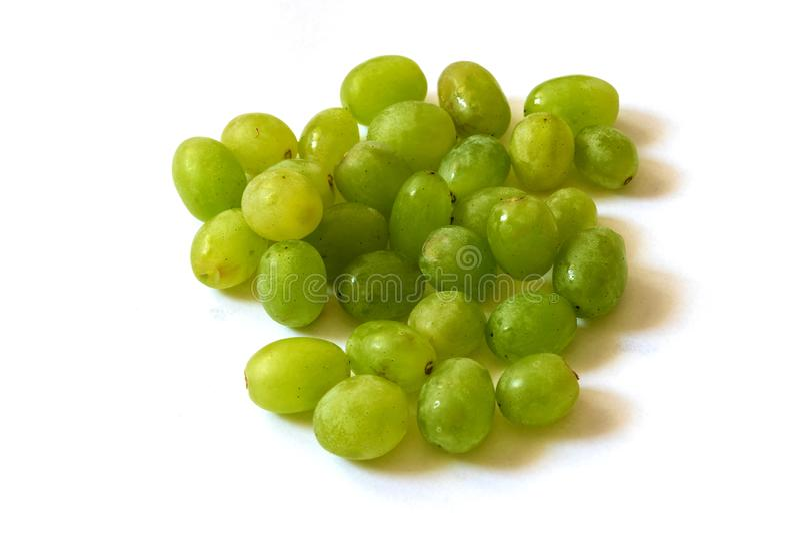 在白色背景的葡萄 免版税库存照片