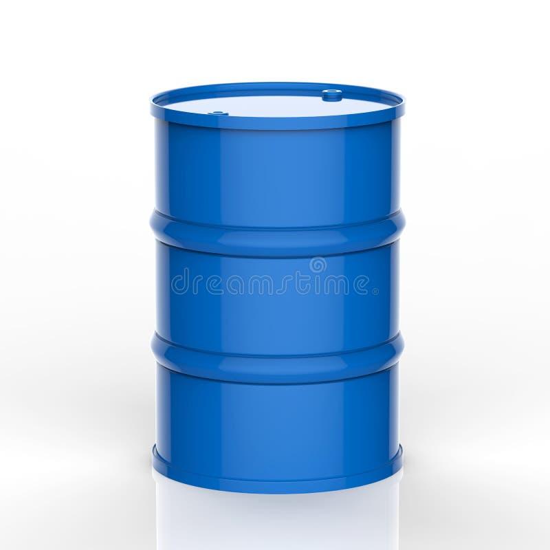 在白色背景的蓝色桶 库存例证