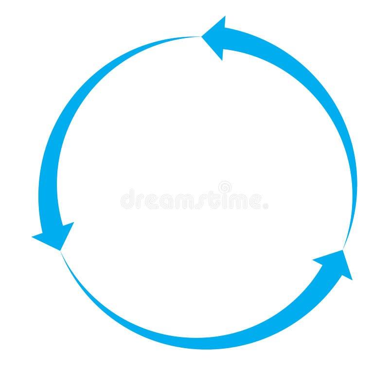 在白色背景的蓝色箭头象 向量例证