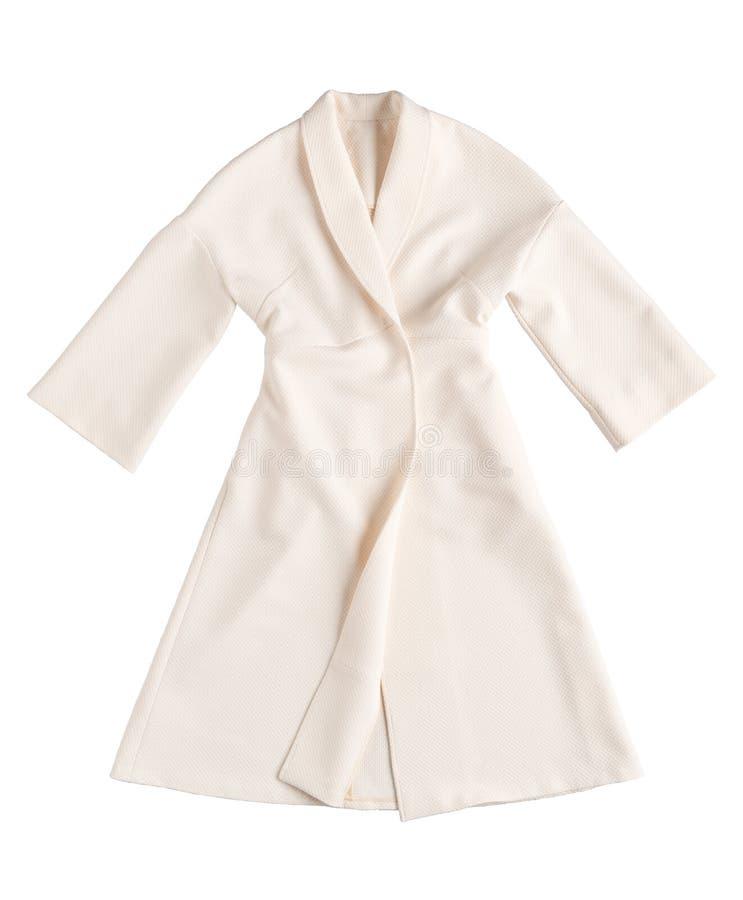 在白色背景的衣裳 免版税库存照片
