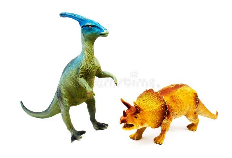 在白色背景的被隔绝的恐龙 免版税图库摄影