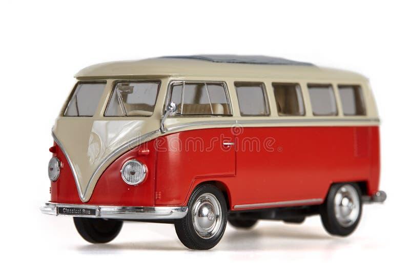 在白色背景的被隔绝的vw公共汽车搬运车 免版税库存图片