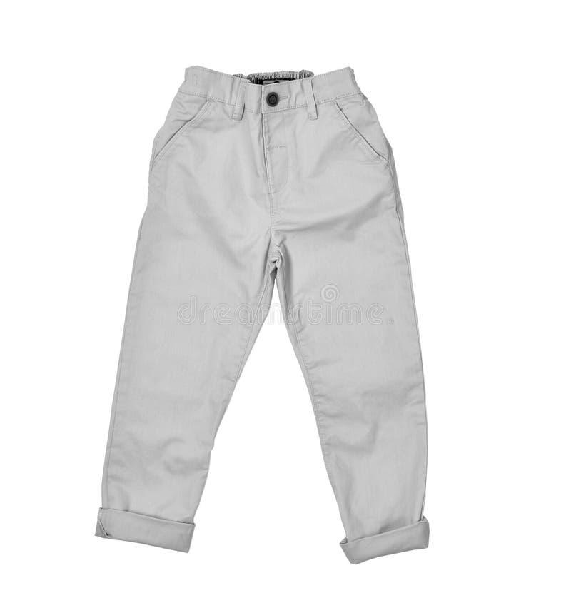 在白色背景的裤子 库存照片