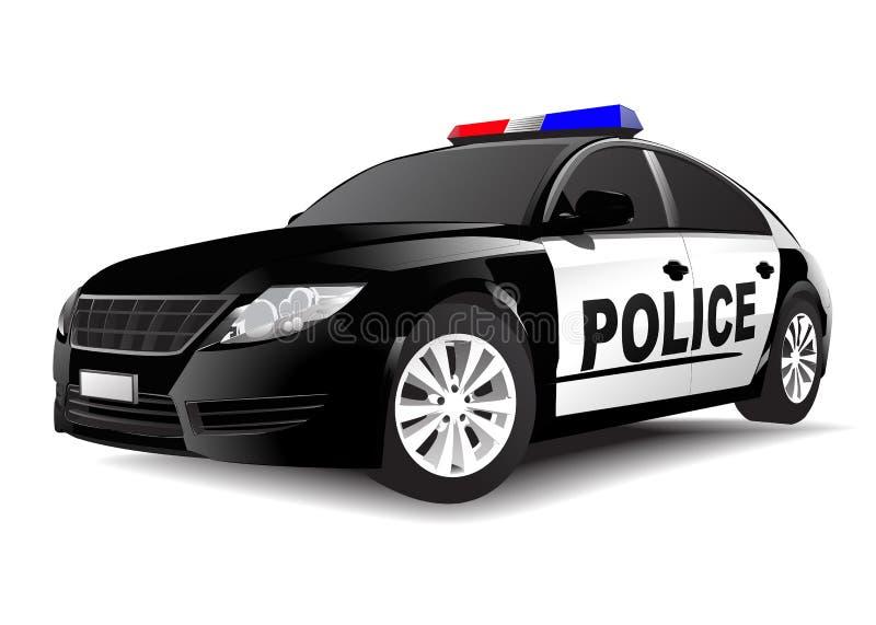 在白色背景的警车 向量例证