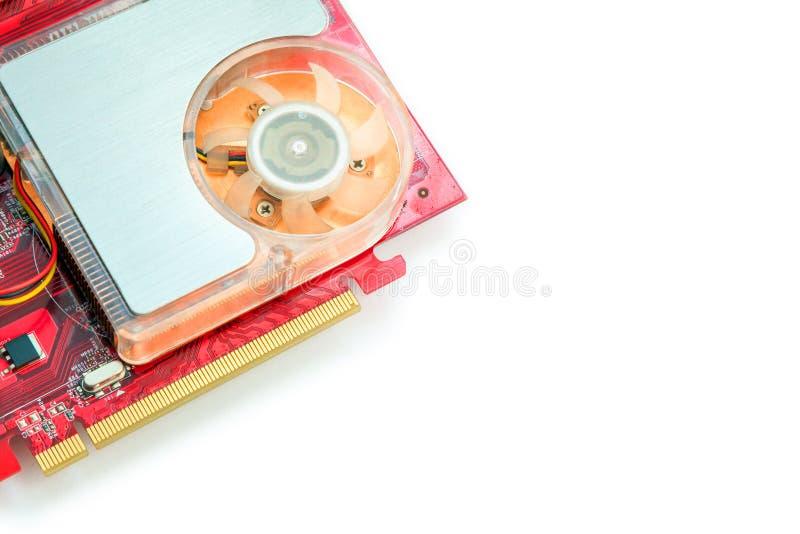 在白色背景的计算机显示卡 库存照片