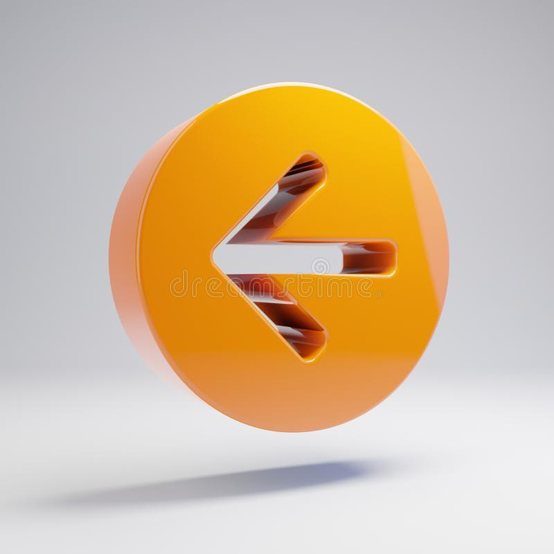 在白色背景的象被隔绝容量光滑的热的橙色箭头圈子 库存例证