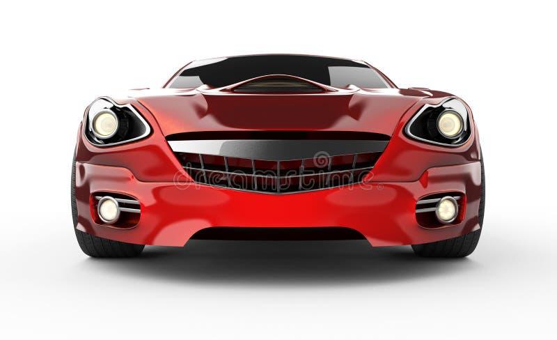 在白色背景的豪华brandless红色跑车 库存例证