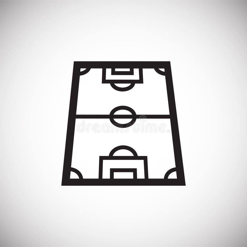 在白色背景的足球场象图表和网络设计的,现代简单的传染媒介标志 背景蓝色颜色概念互联网 时髦标志为 库存例证