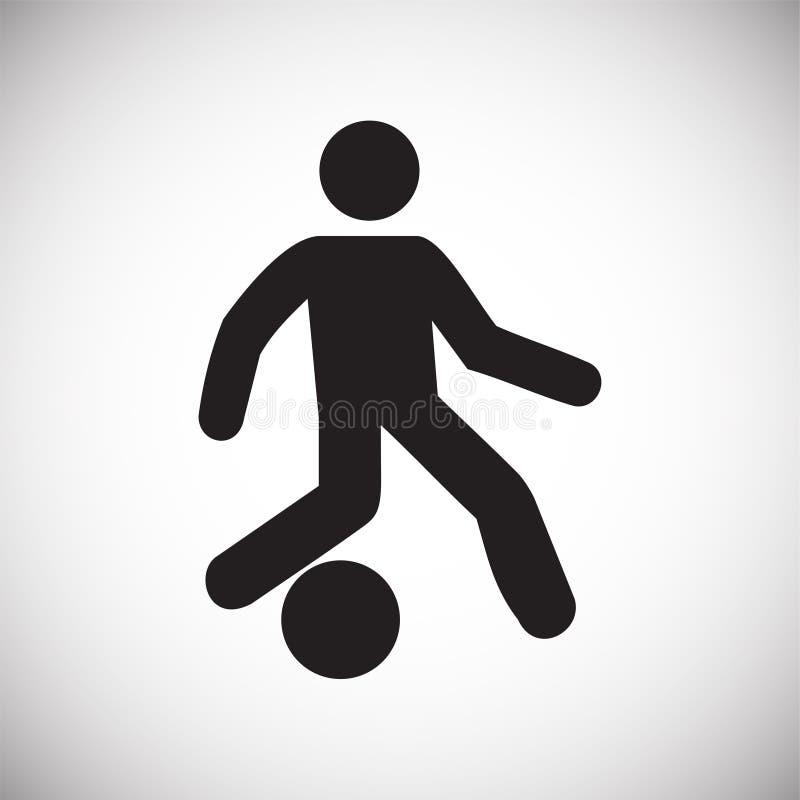 在白色背景的足球运动员象图表和网络设计的,现代简单的传染媒介标志 背景蓝色颜色概念互联网 时髦标志为 库存例证