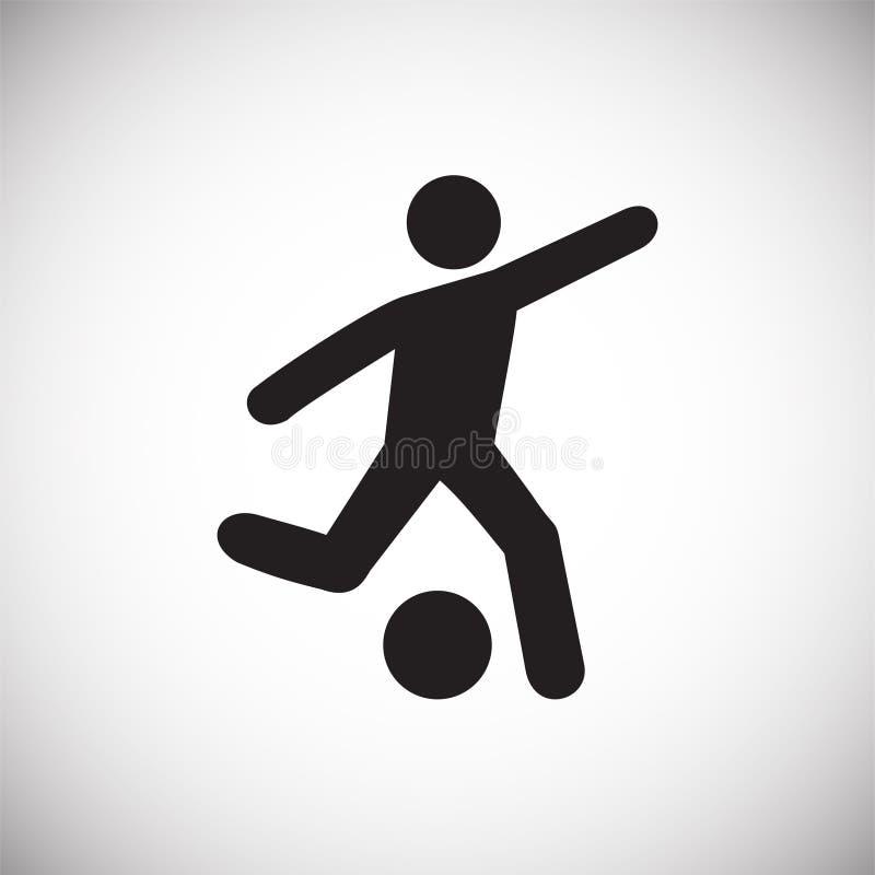 在白色背景的足球运动员象图表和网络设计的,现代简单的传染媒介标志 背景蓝色颜色概念互联网 时髦标志为 皇族释放例证