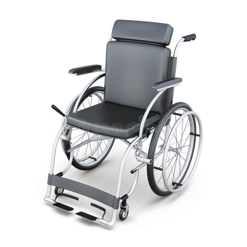 在白色背景的轮椅 3d回报image.colorful圆筒 皇族释放例证