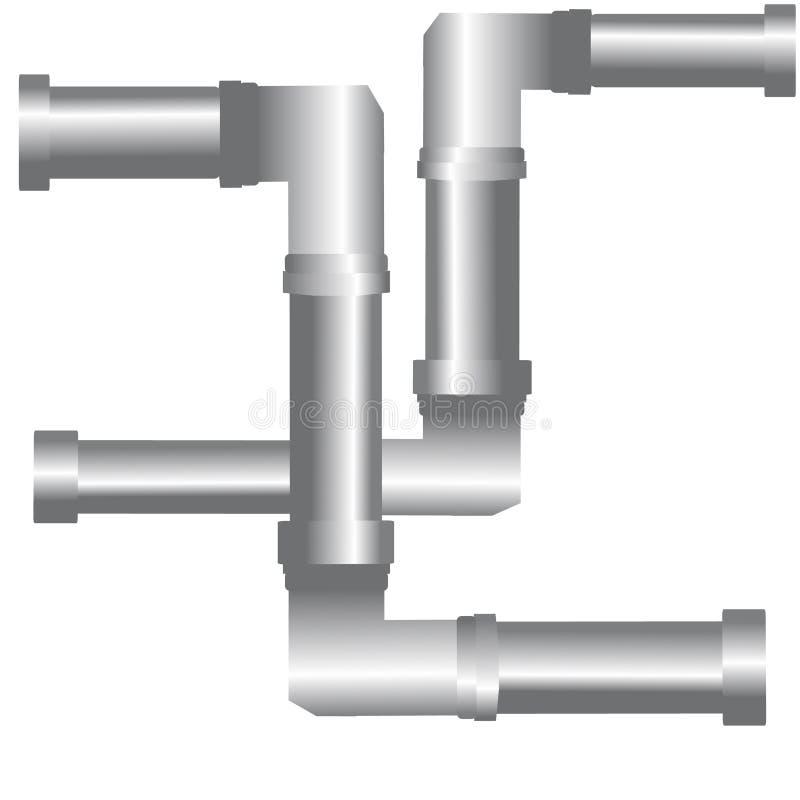 在白色背景的输送管道 向量例证