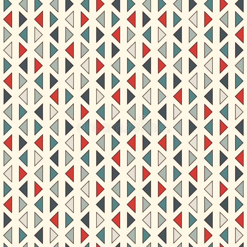 在白色背景的重复的微型三角 简单的抽象墙纸 与几何图的无缝的样式设计 库存例证
