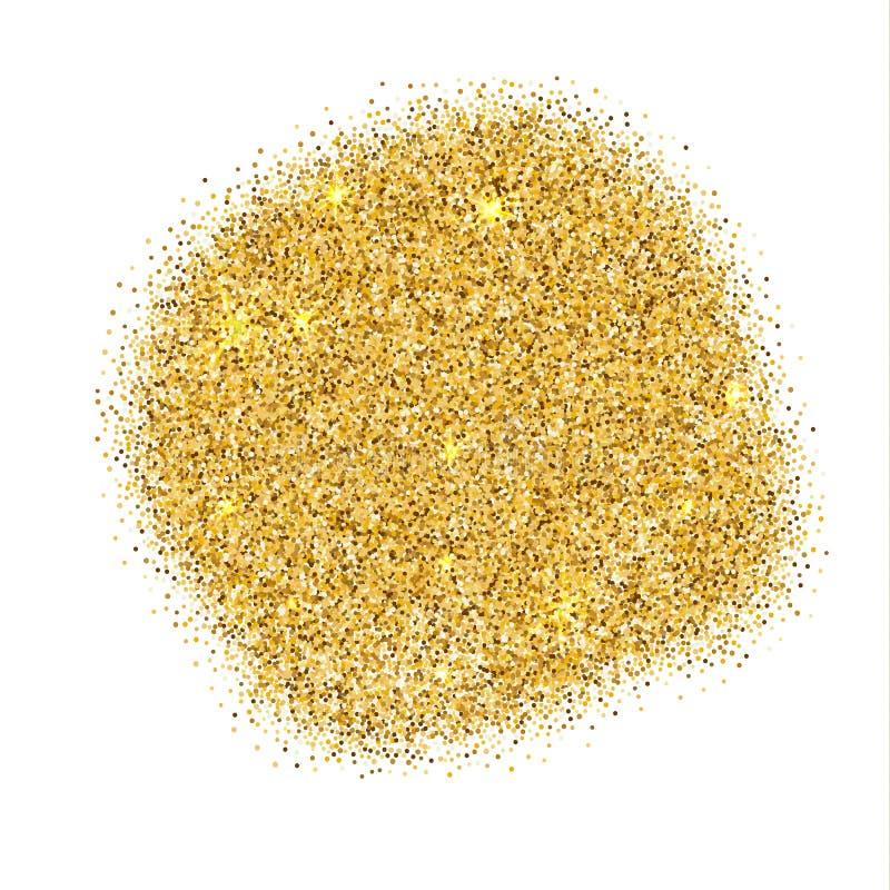 在白色背景的金闪闪发光 金子闪烁背景 卡片的金黄背景,vip,独家新闻,证明,礼物 库存例证